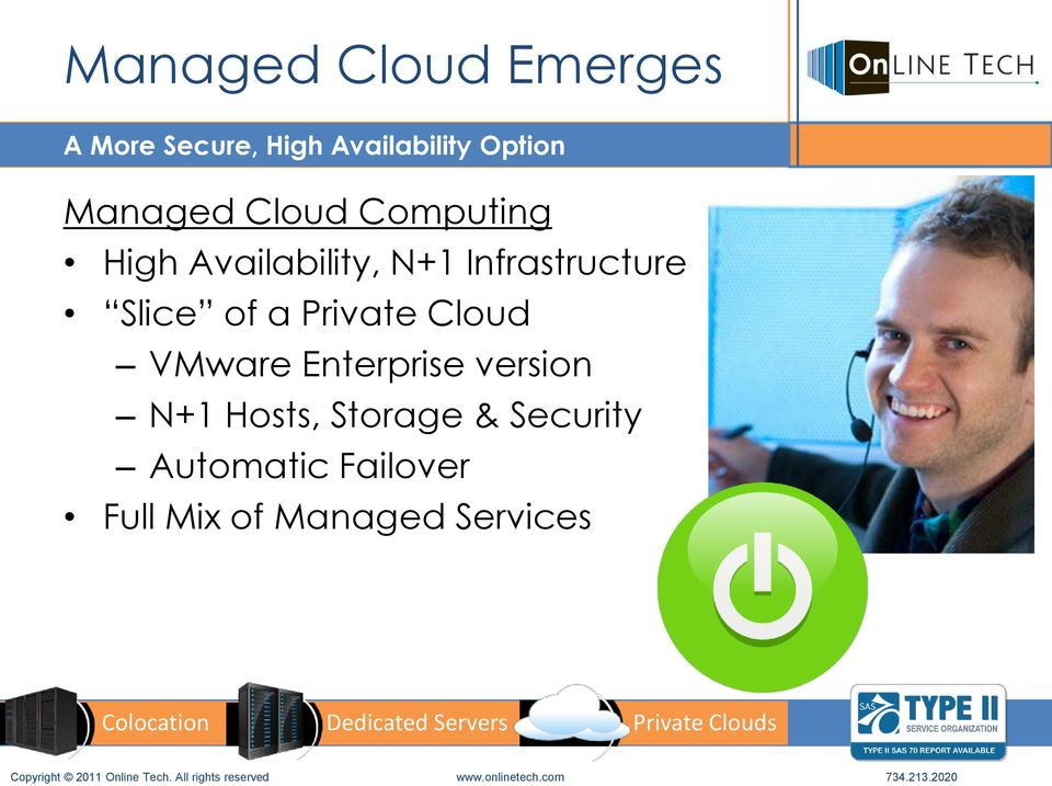 Infrastructure Slice of a Private Cloud VMware Enterprise version