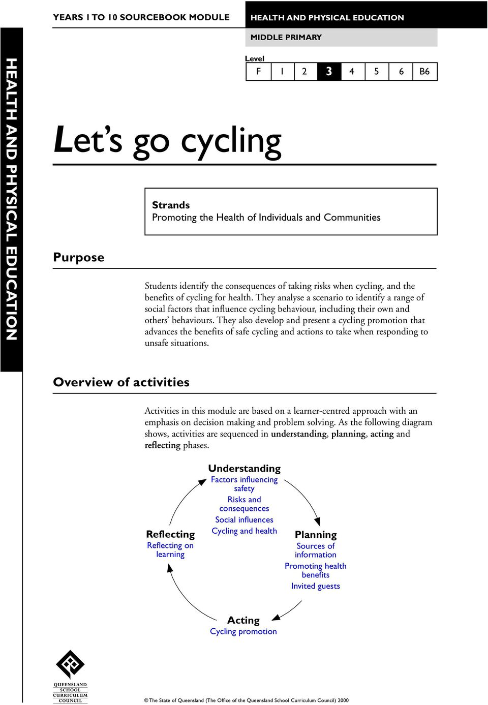 They analyse a scenario to identify a range of social factors that influence cycling behaviour, including their own and others behaviours.