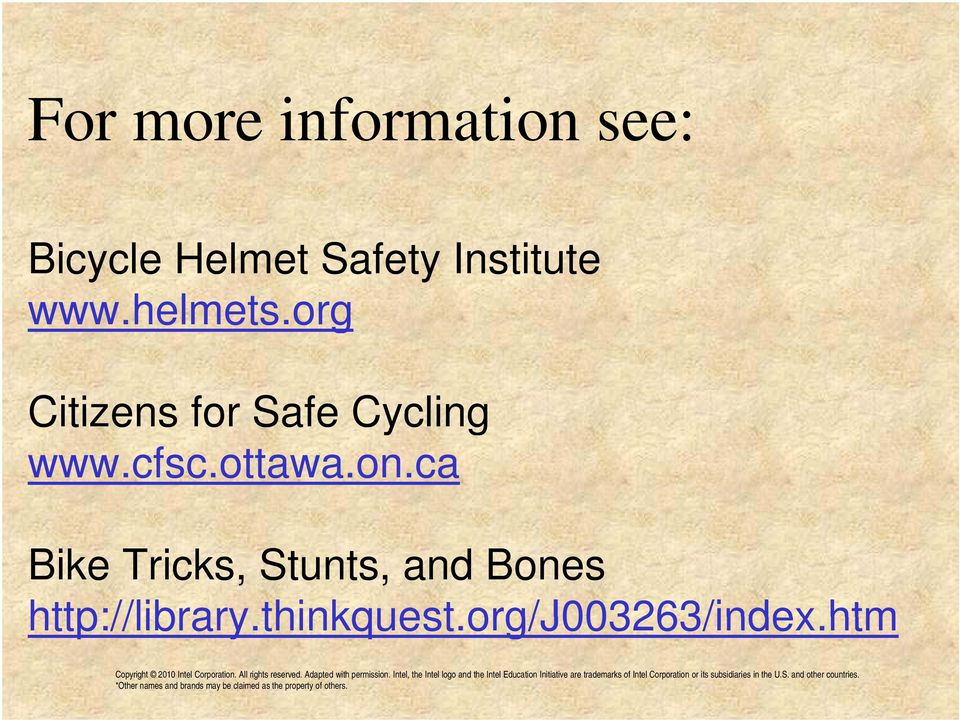 org Citizens for Safe Cycling www.cfsc.ottawa.on.
