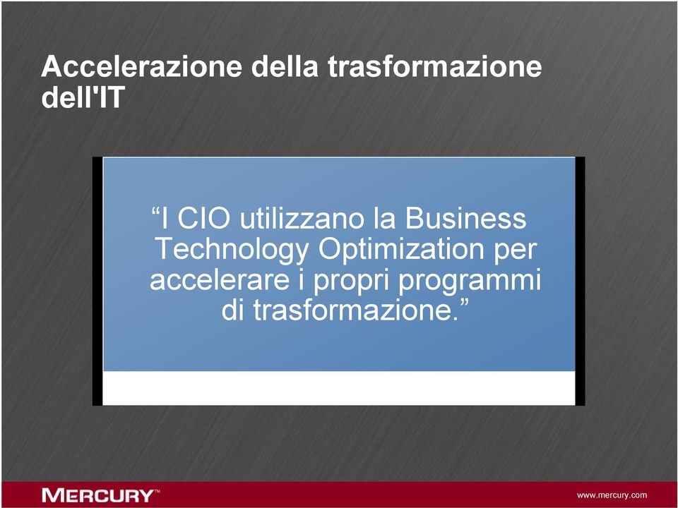 Technology Optimization per accelerare i