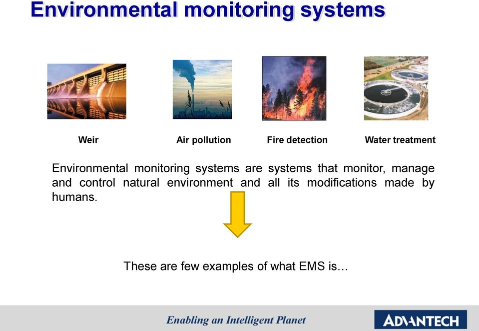 systems that monitor, manage and control natural environment and