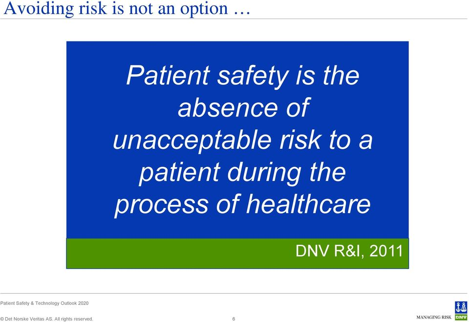 unacceptable risk to a patient