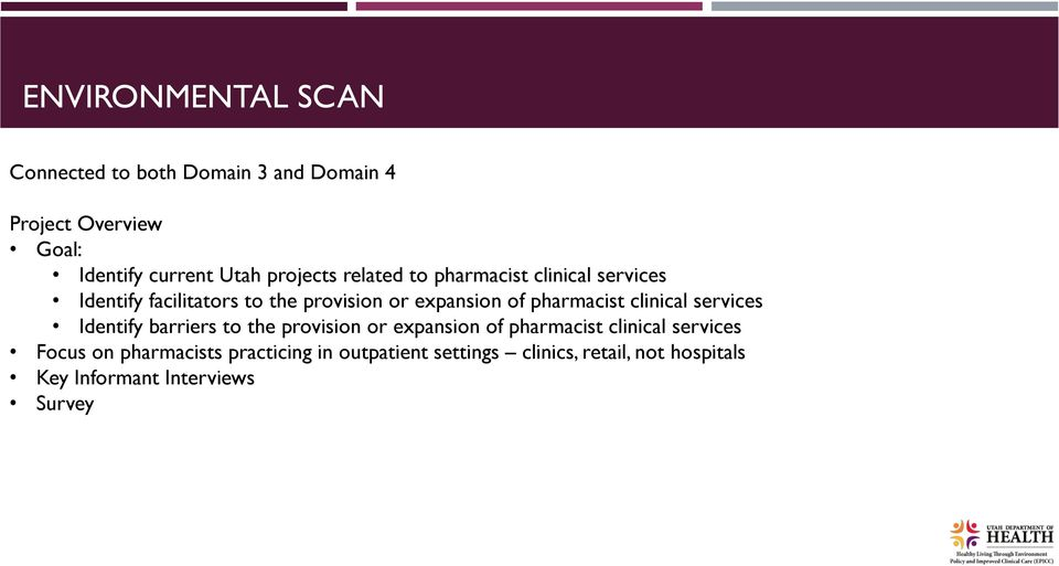 pharmacist clinical services Identify barriers to the provision or expansion of pharmacist clinical services