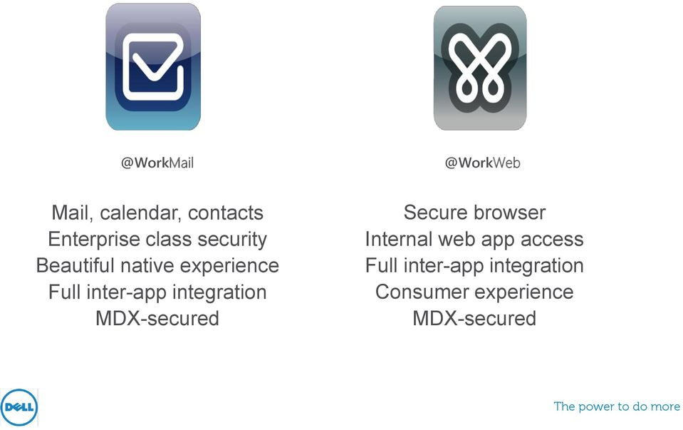 integration MDX-secured Secure browser Internal web app