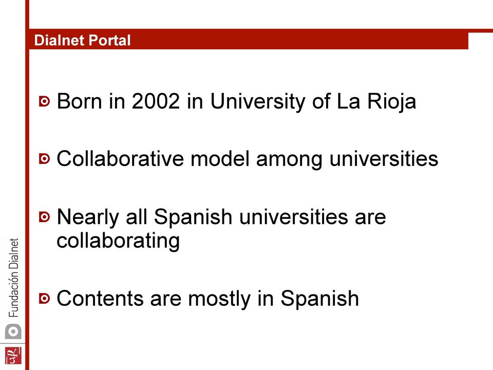 Collaborative model among universities!