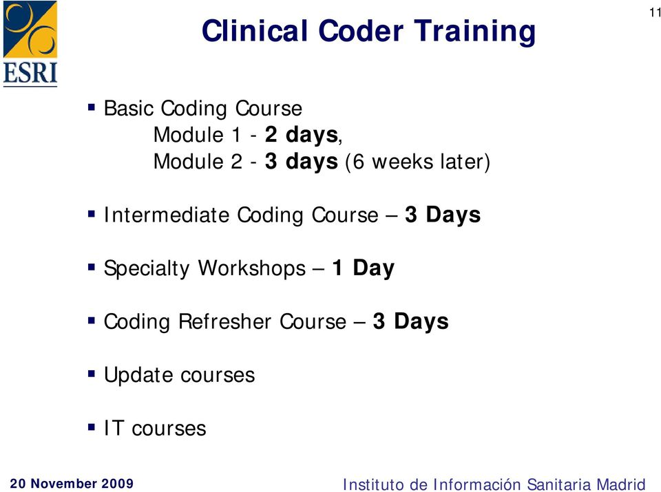 Intermediate Coding Course 3 Days Specialty