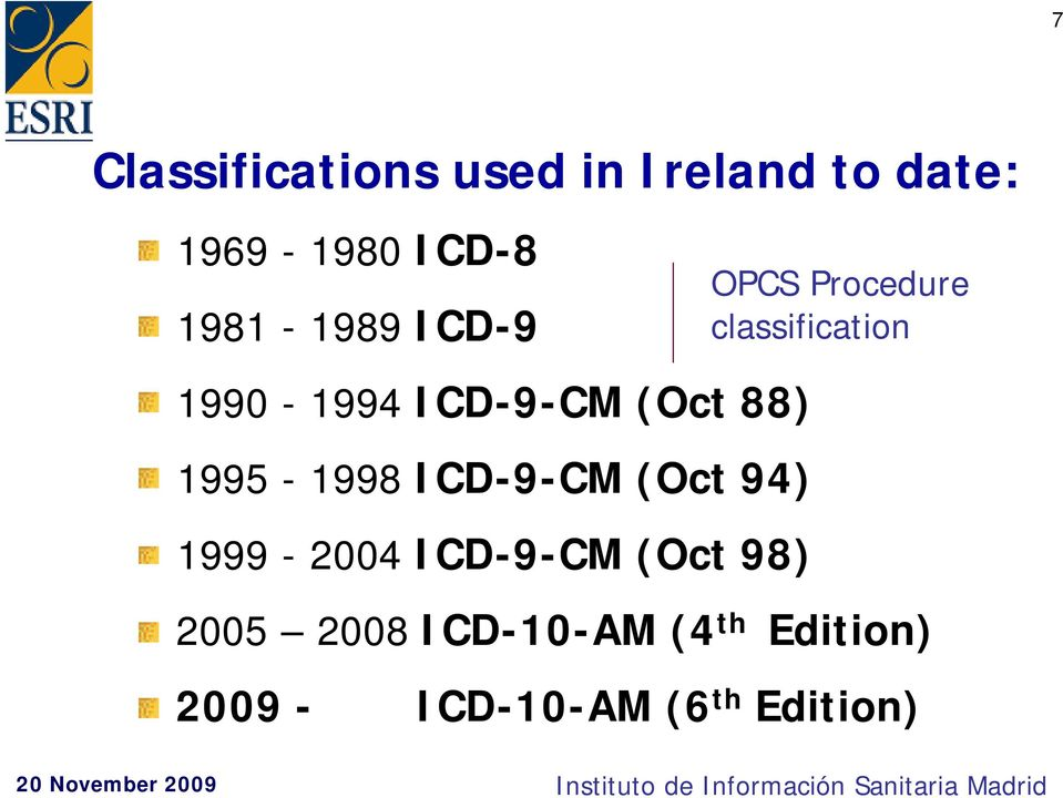(Oct 94) 1999-2004 ICD-9-CM (Oct 98) OPCS Procedure