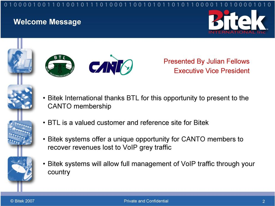 site for Bitek Bitek systems offer a unique opportunity for CANTO members to recover revenues lost