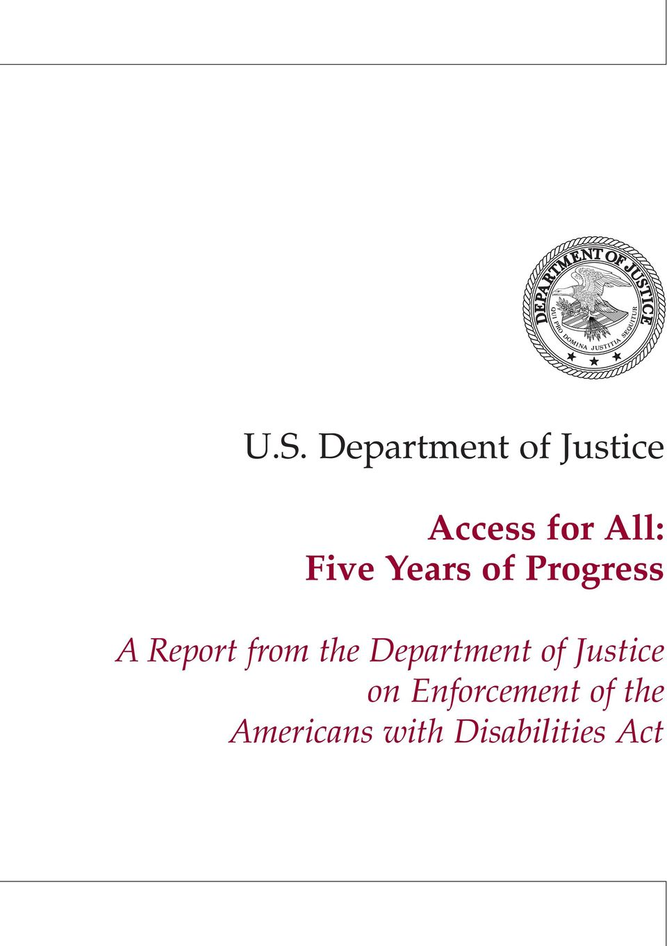 from the Department of Justice on
