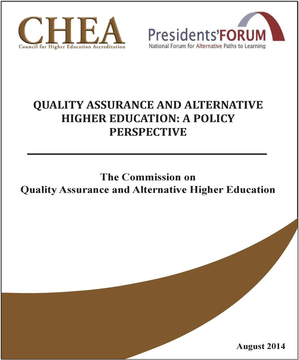 The Commission on Quality Assurance