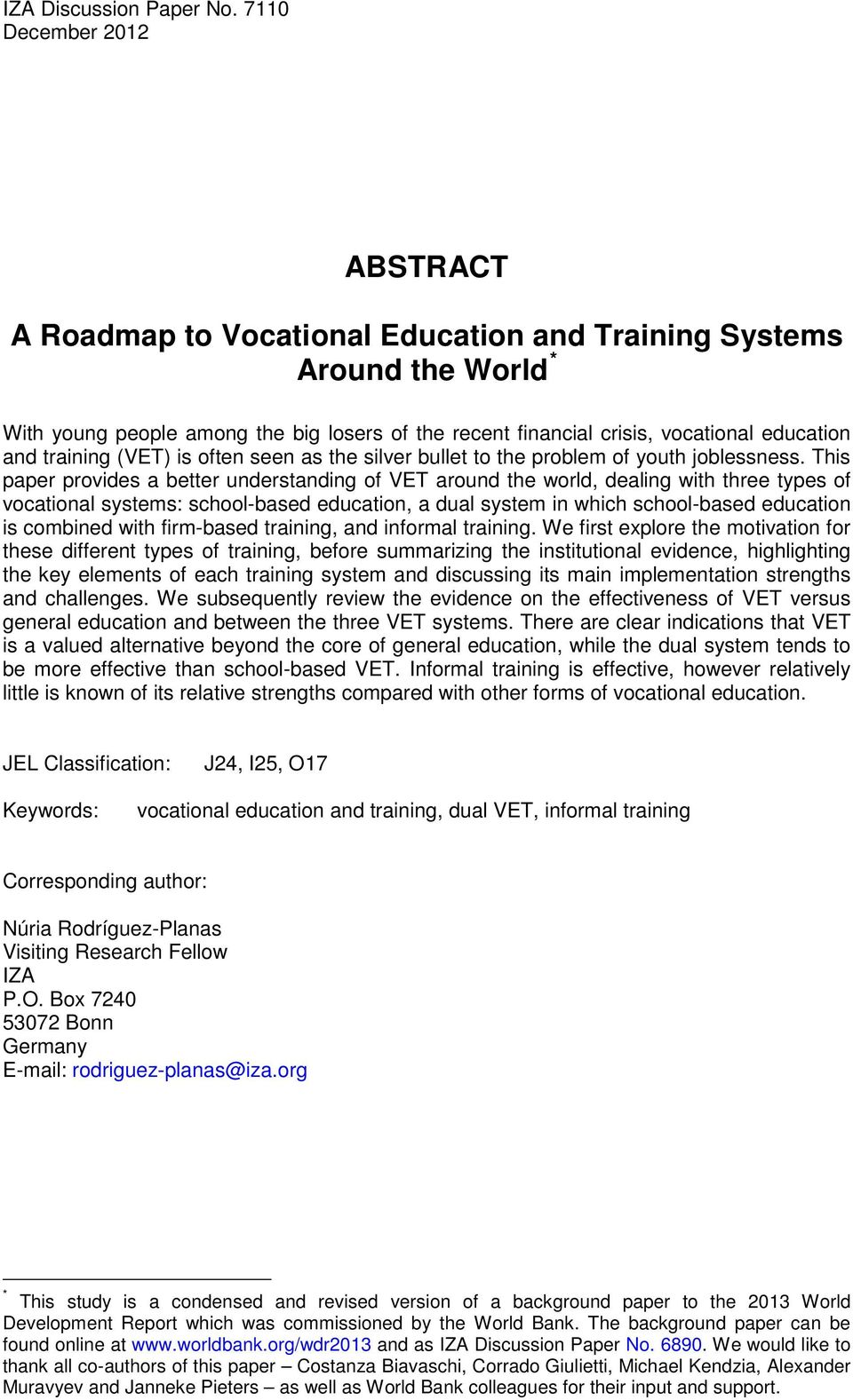 training (VET) is often seen as the silver bullet to the problem of youth joblessness.
