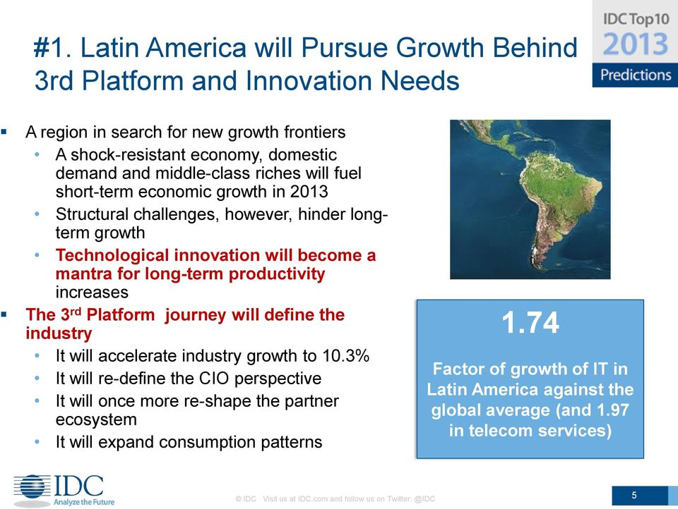 increases The 3 rd Platform journey will define the industry It will accelerate industry growth to 10.