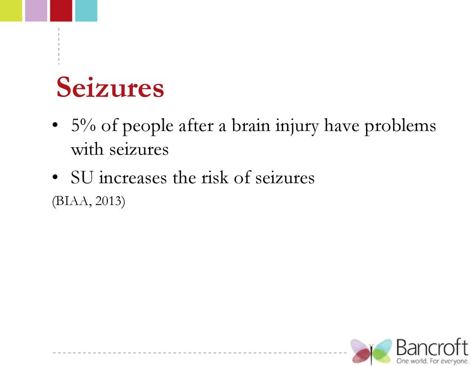 with seizures SU increases