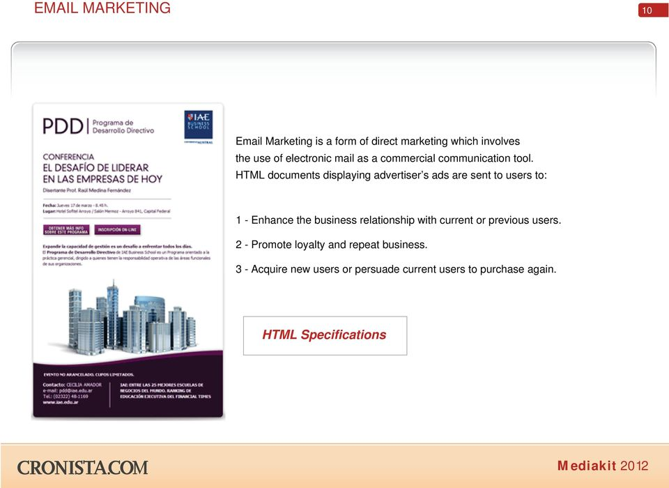 HTML documents displaying advertiser s ads are sent to users to: 1 - Enhance the business