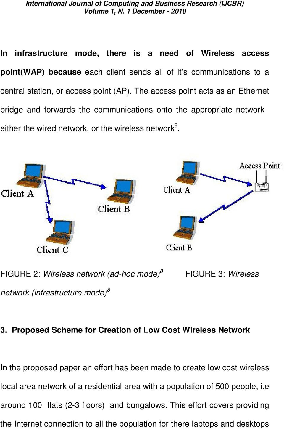 FIGURE 2: Wireless network (ad-hoc mode) 8 FIGURE 3: Wireless network (infrastructure mode) 8 3.