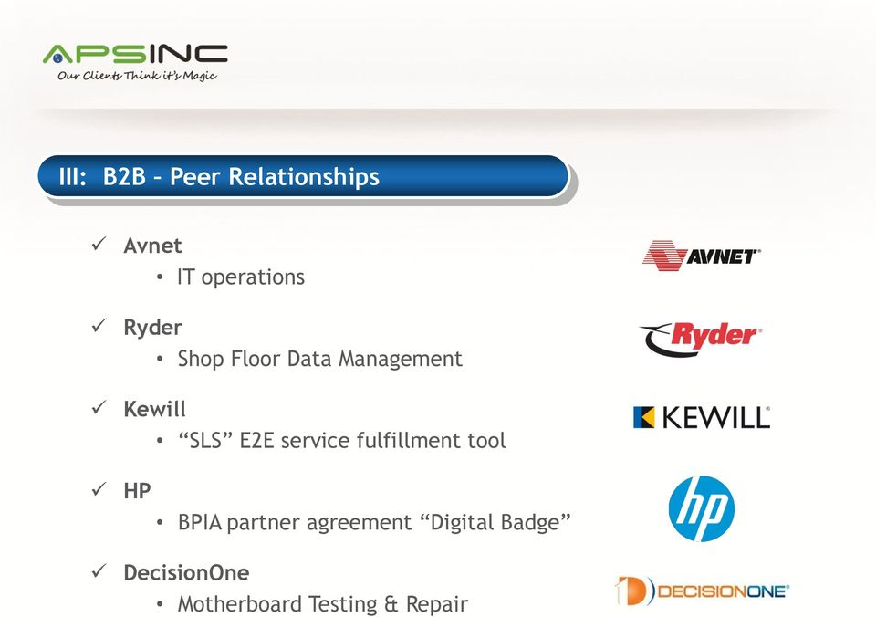 service fulfillment tool HP BPIA partner agreement
