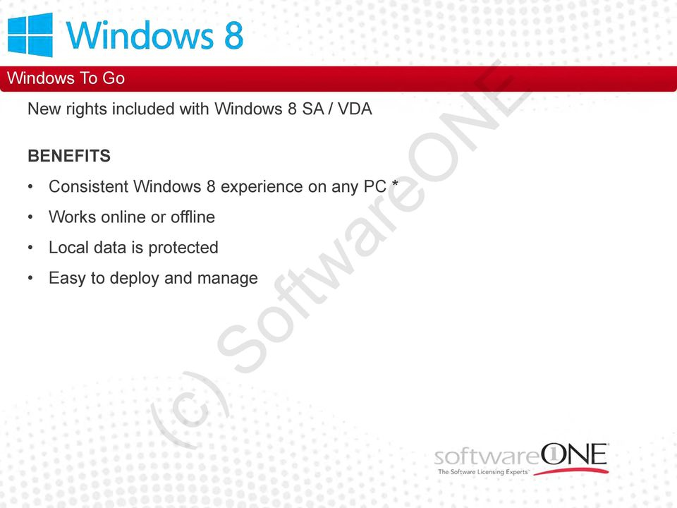 Windows 8 experience on any PC * Works online