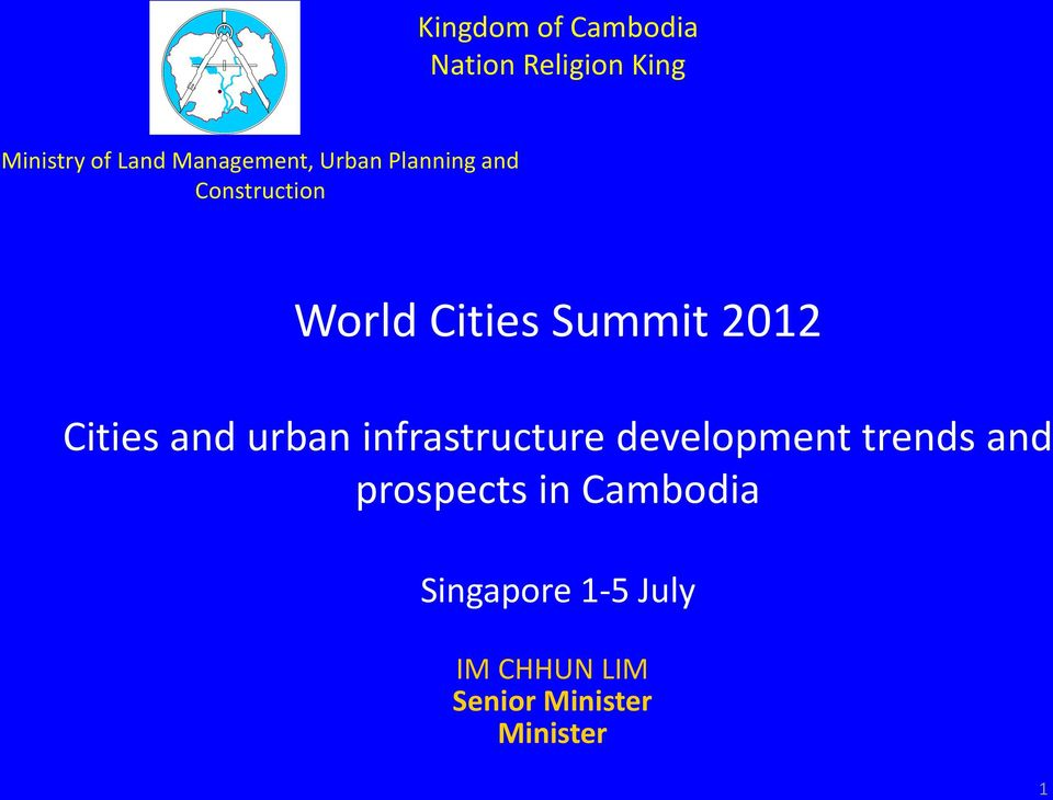 2012 Cities and urban infrastructure development trends and