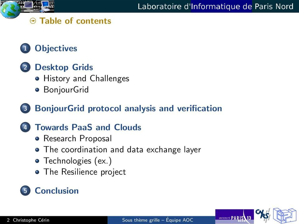 Clouds Research Proposal The coordination and data exchange layer Technologies