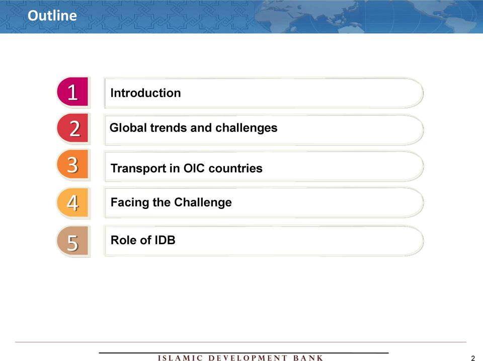 trends and challenges Transport in OIC