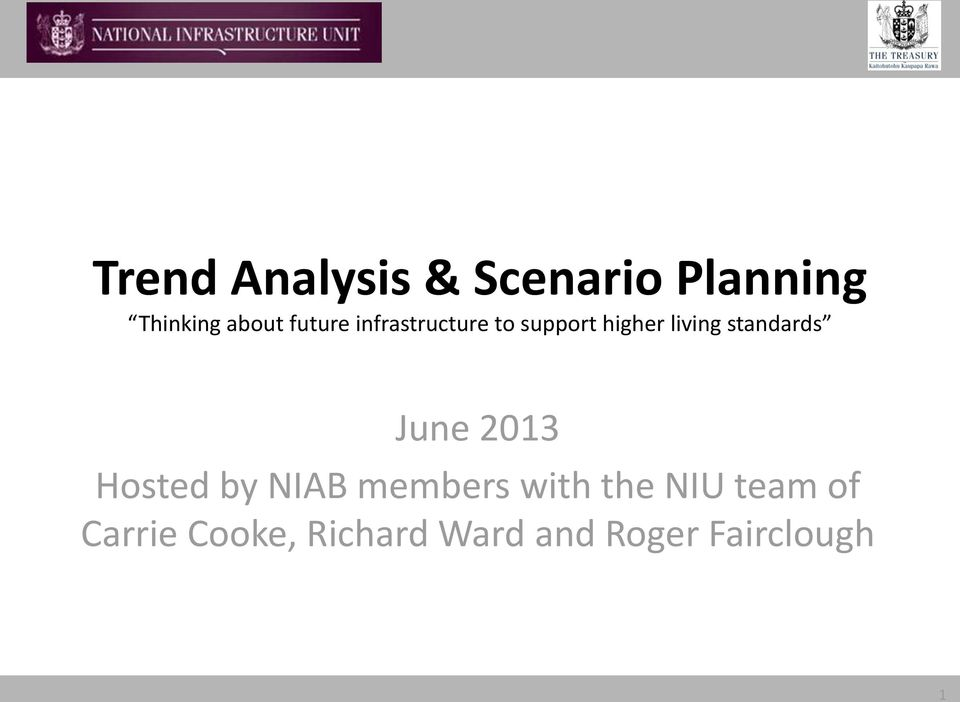 standards June 2013 Hosted by NIAB members with the