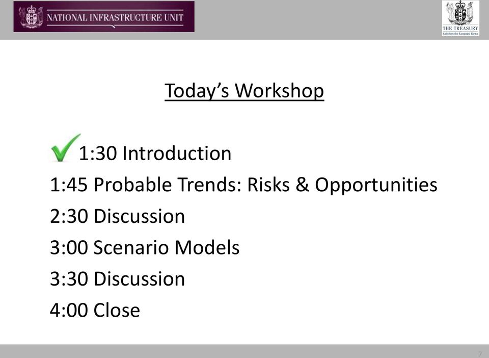 Opportunities 2:30 Discussion 3:00