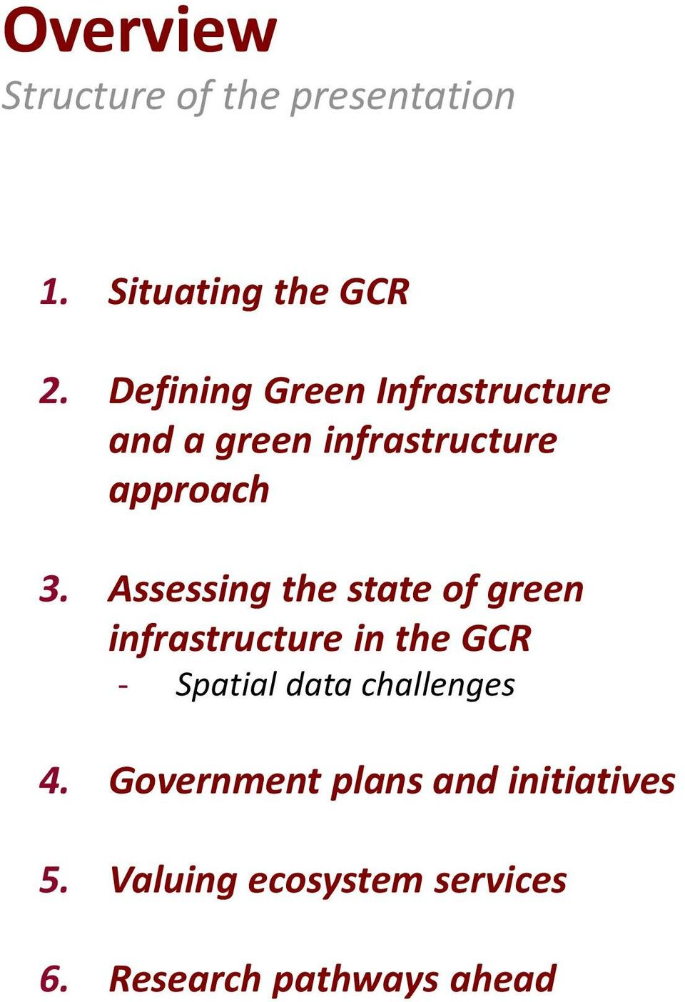 Assessing the state of green infrastructure in the GCR - Spatial data