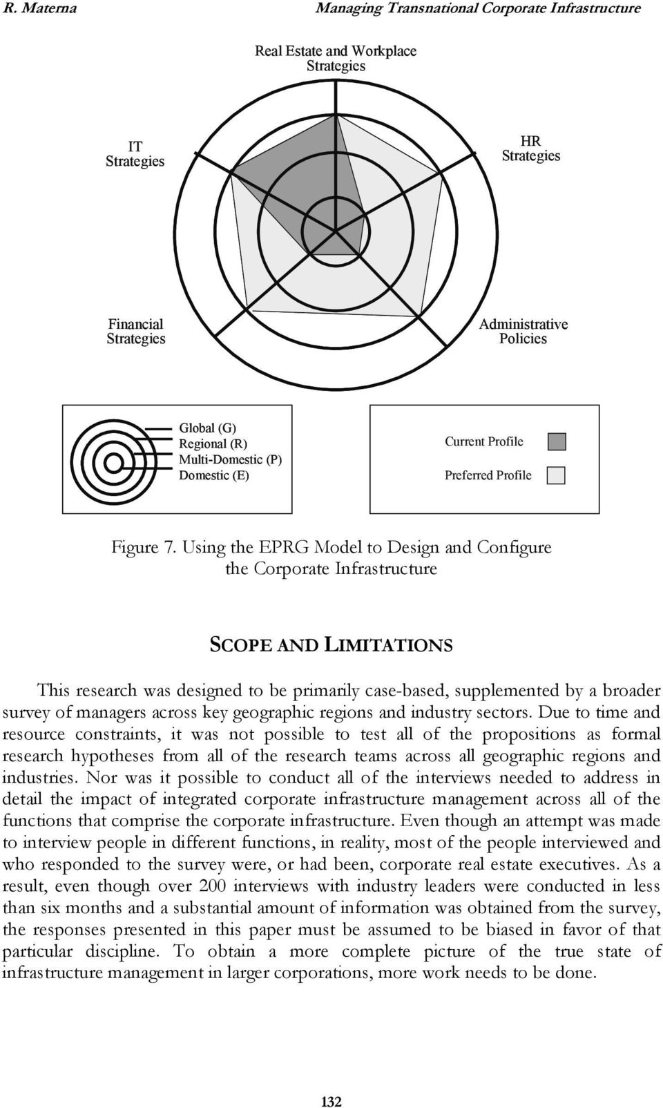 Using the EPRG Model to Design and Configure the Corporate Infrastructure SCOPE AND LIMITATIONS This research was designed to be primarily case-based, supplemented by a broader survey of managers