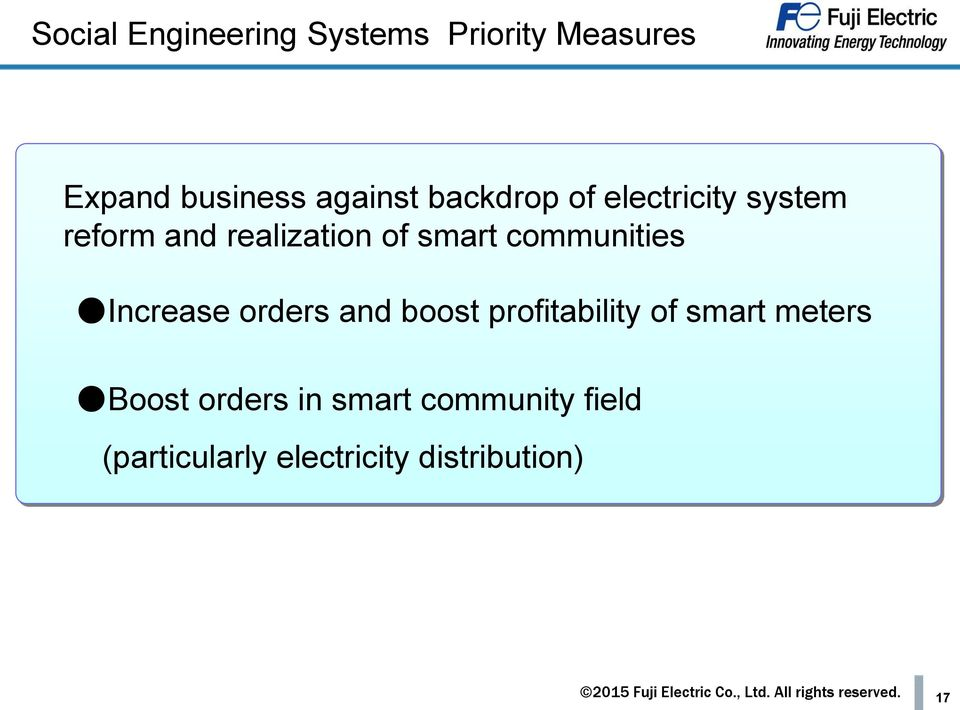communities Increase orders and boost profitability of smart meters