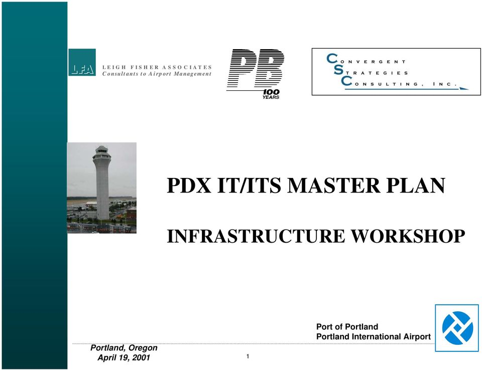 PDX IT/ITS MASTER PLAN
