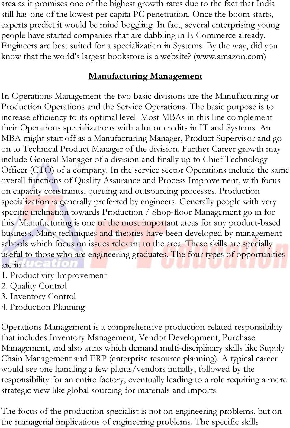 By the way, did you know that the world's largest bookstore is a website? (www.amazon.