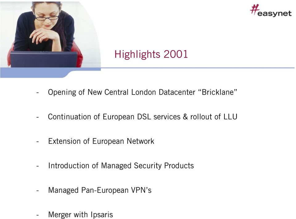LLU - Extension of European Network - Introduction of Managed