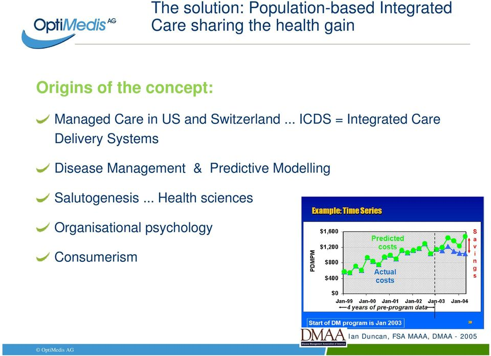 .. ICDS = Integrated Care Delivery Systems Disease Management age e & Predictive e