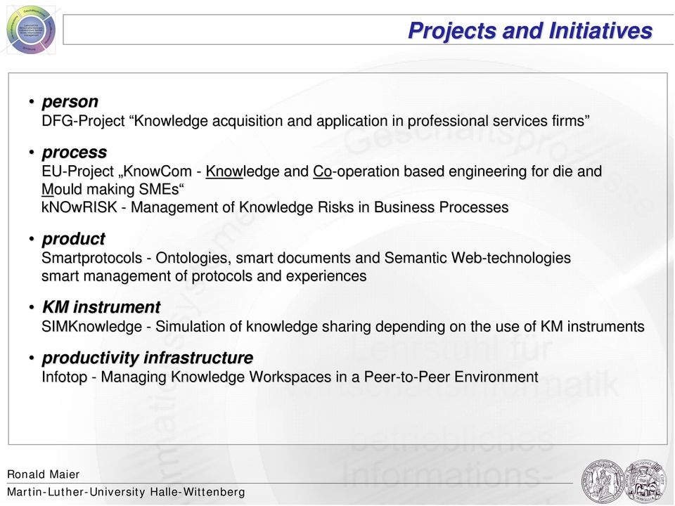 Smartprotocols - Ontologies,, smart documents and Semantic Web-technologies smart management of protocols and experiences KM instrument SIMKnowledge -