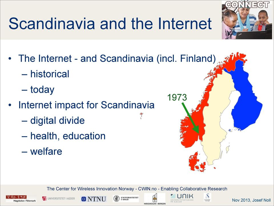 Finland) historical today 1973 Internet