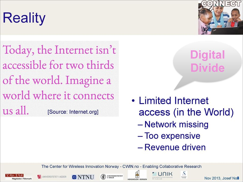 org] Limited Internet access (in