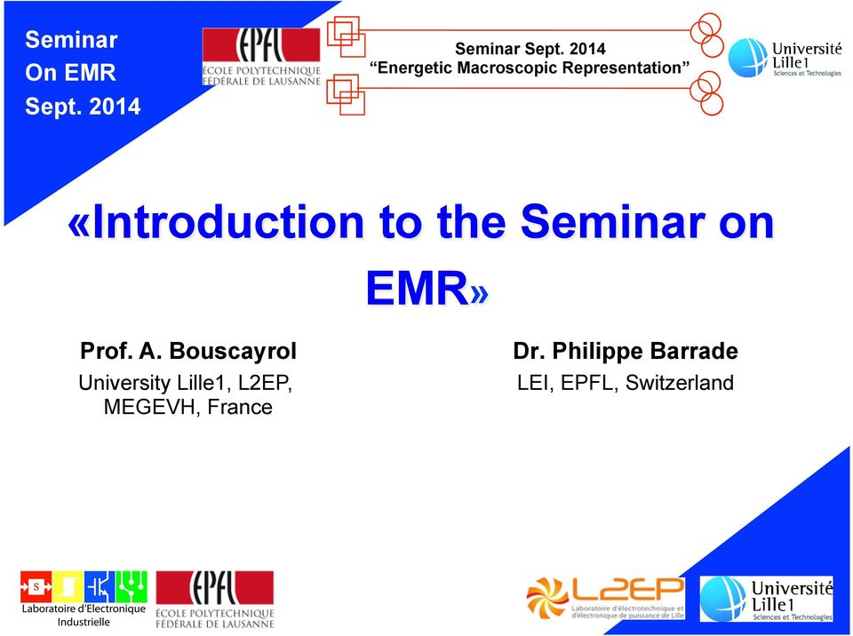 to the Seminar on EMR» Prof. A.