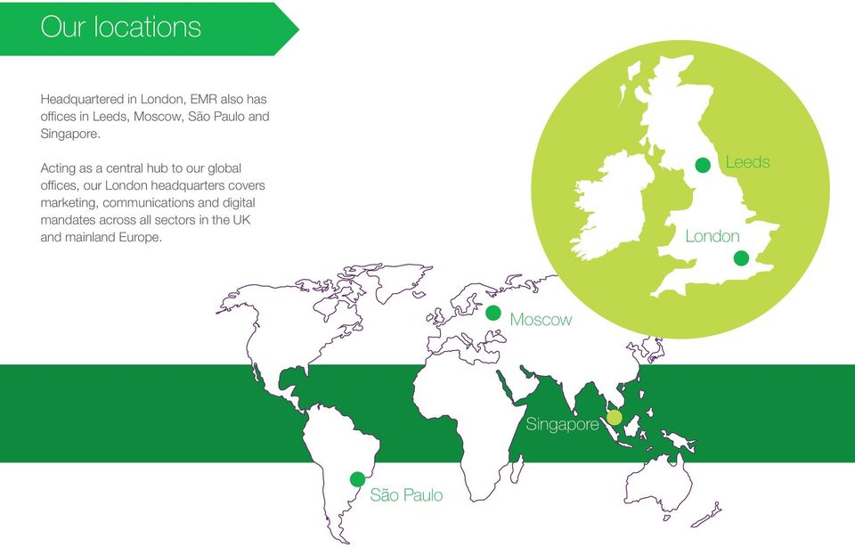 Acting as a central hub to our global offices, our London headquarters covers