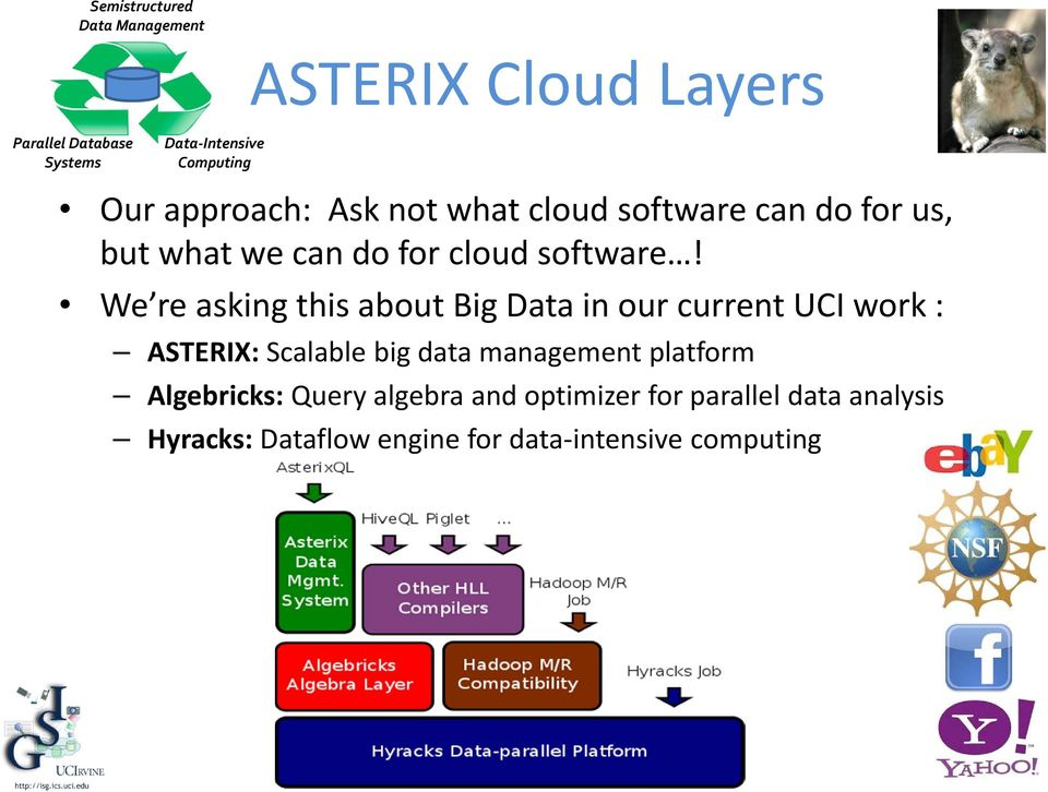 We re asking this about Big Data in our current UCI work : ASTERIX: Scalable big data management platform