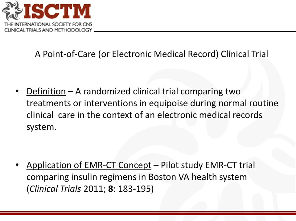 in the context of an electronic medical records system.