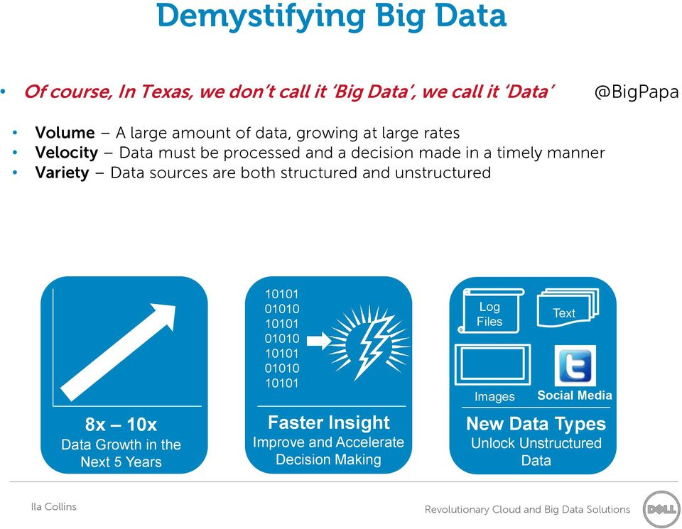 are both structured and unstructured 8x 10x Data Growth in the Next 5 Years 10101 01010 10101 01010 10101 01010 10101