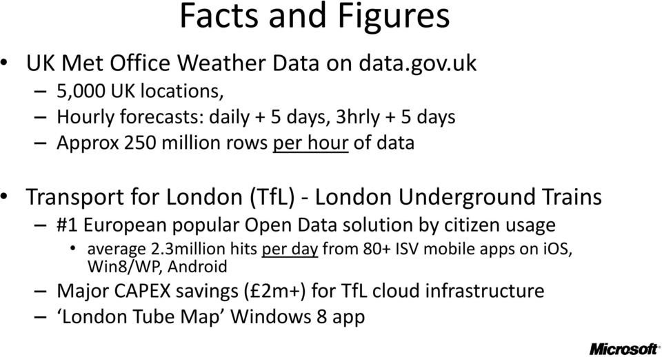 data Transport for London (TfL) London Underground Trains #1 European popular Open Data solution by citizen