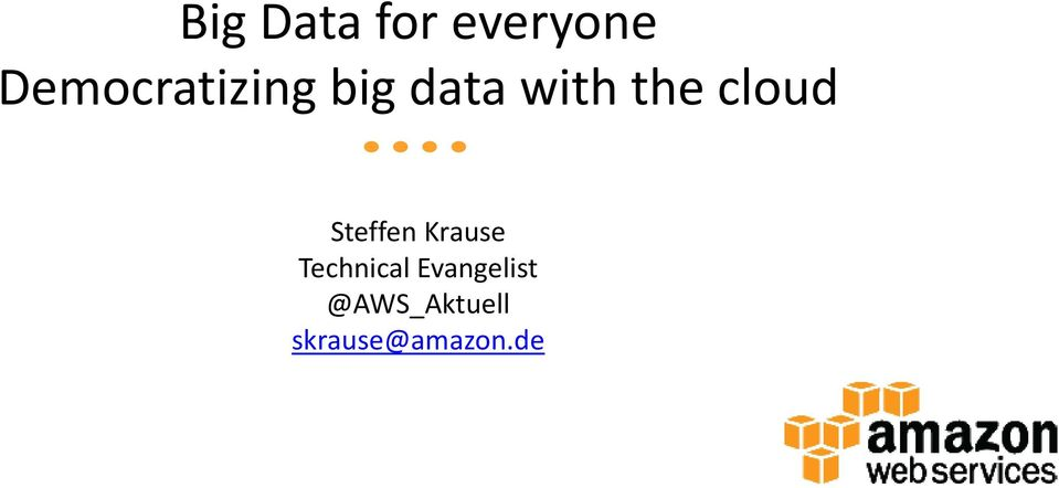 cloud Steffen Krause Technical