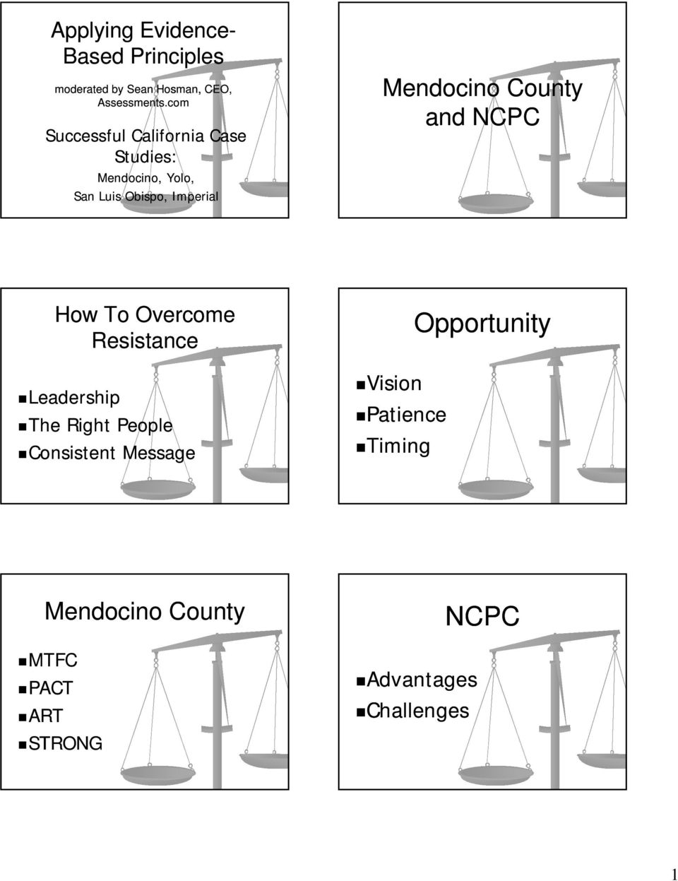 Mendocino County and NCPC How To Overcome Resistance Leadership The Right People
