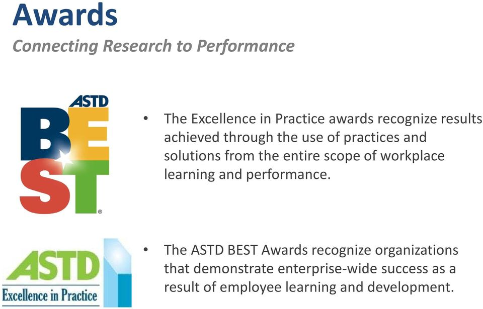 workplace learning and performance.