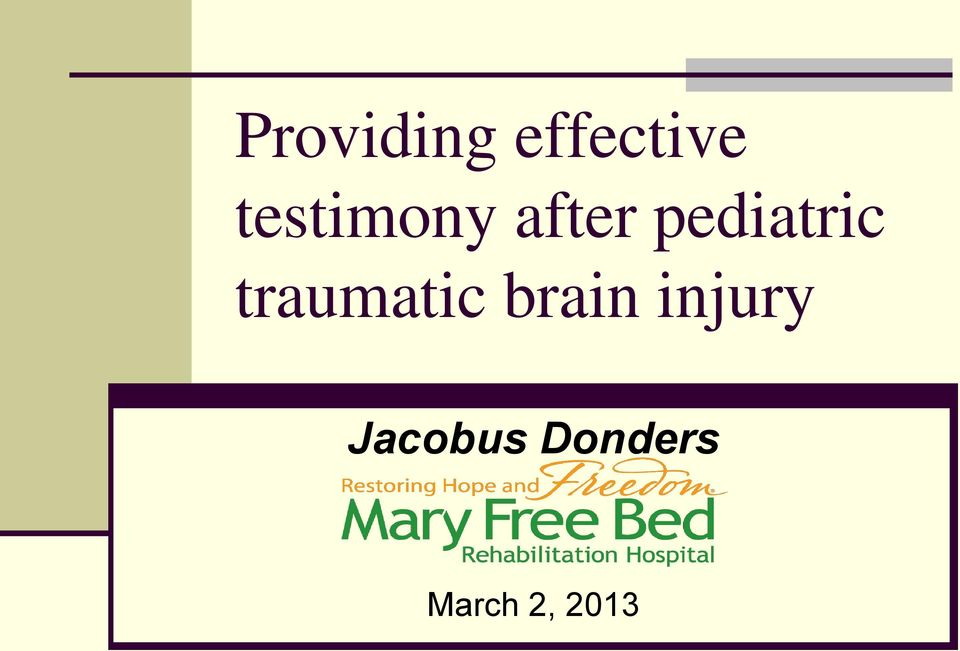 pediatric traumatic