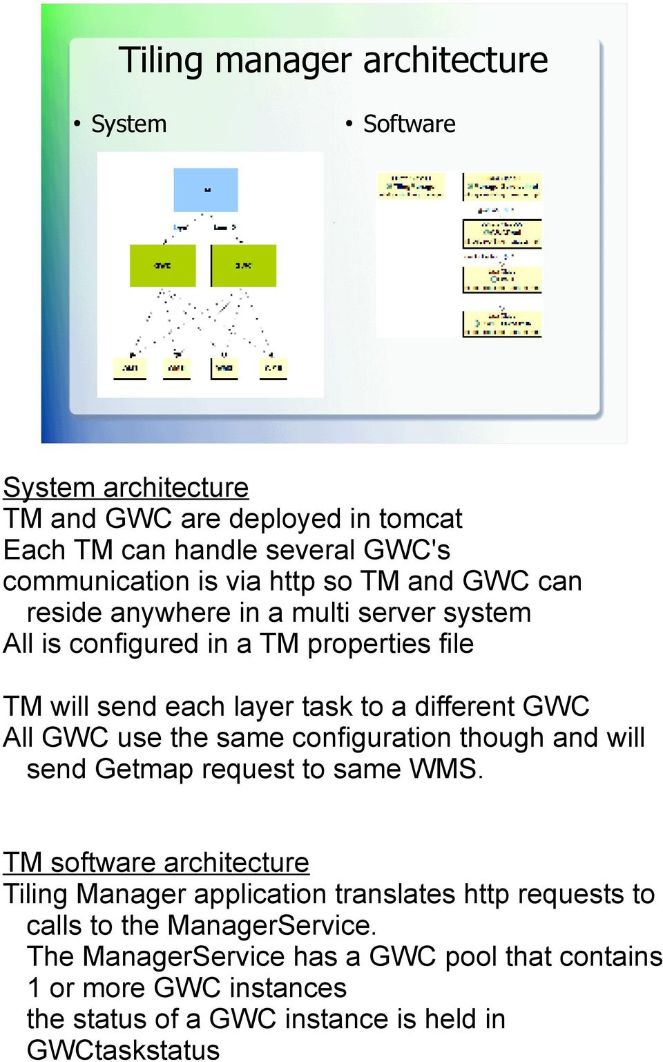 All GWC use the same configuration though and will send Getmap request to same WMS.
