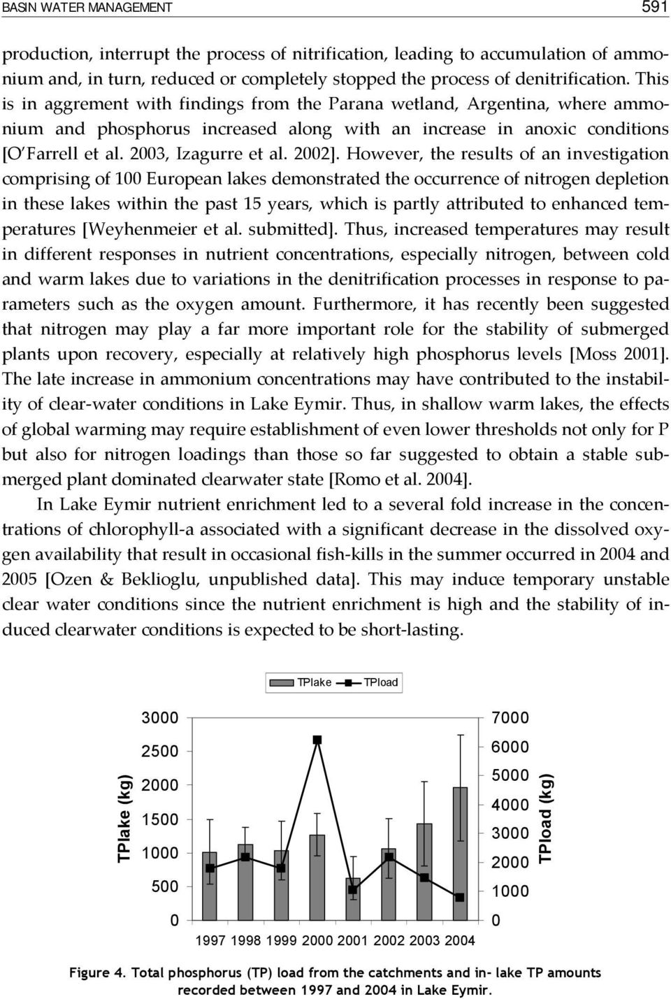 However, the results of an investigation comprising of 1 European lakes demonstrated the occurrence of nitrogen depletion in these lakes within the past 15 years, which is partly attributed to