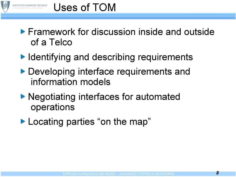 and information models Negotiating interfaces for automated operations