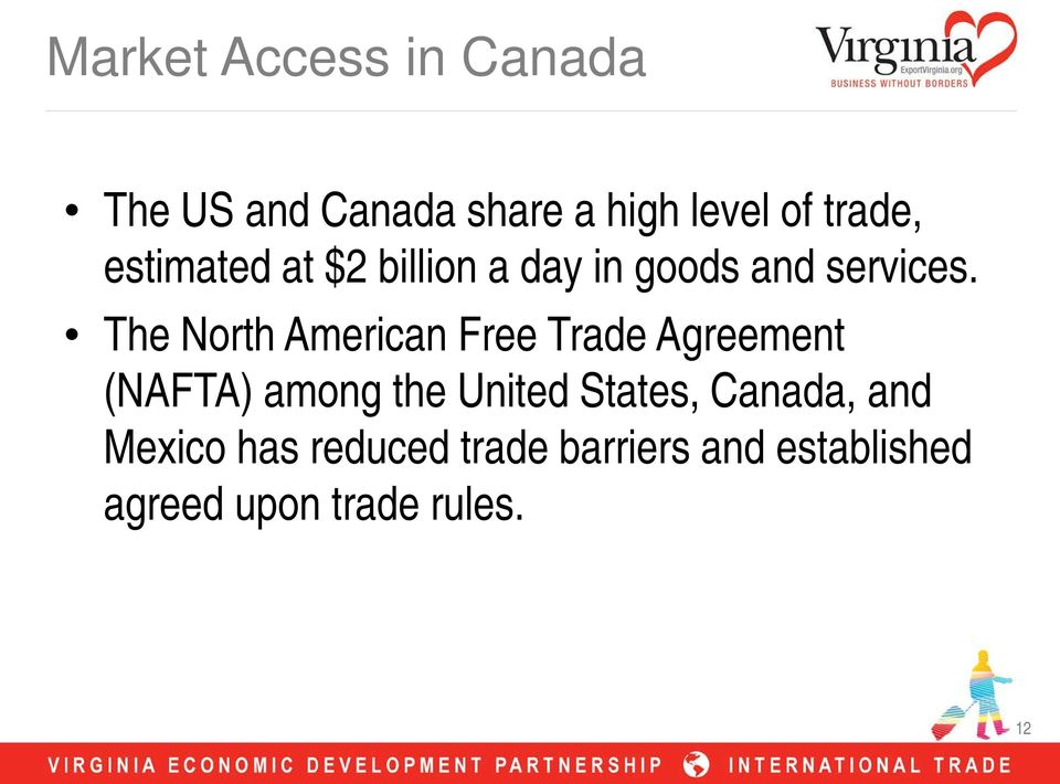 The North American Free Trade Agreement (NAFTA) among the United